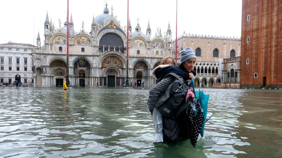 venice flood underwater