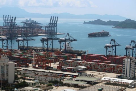 Yantian port in Shenzhen China