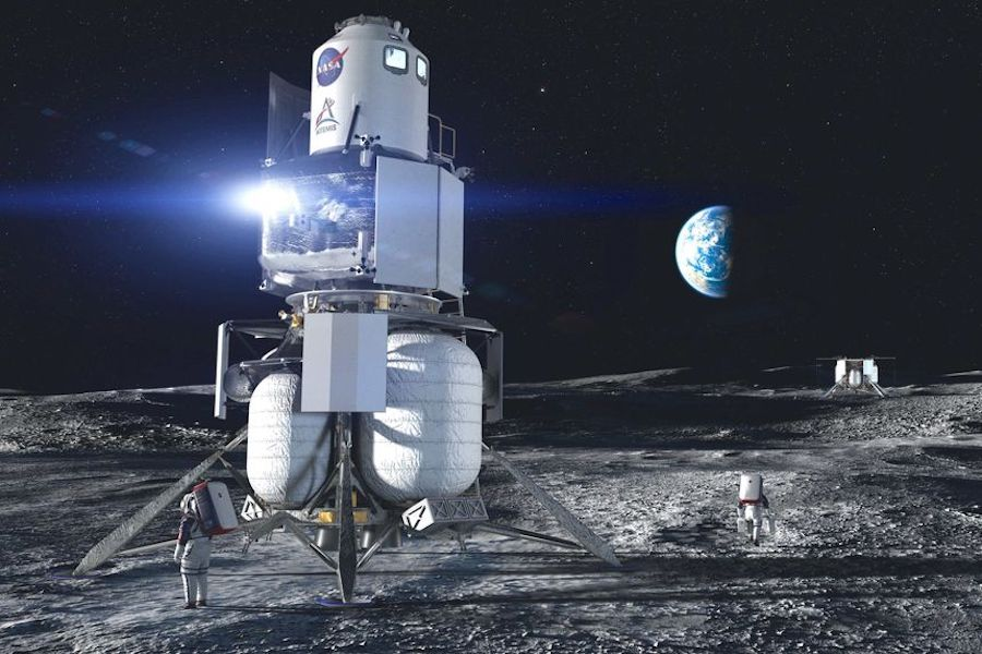 Blue Origin to NASA of a crewed lander on the moon