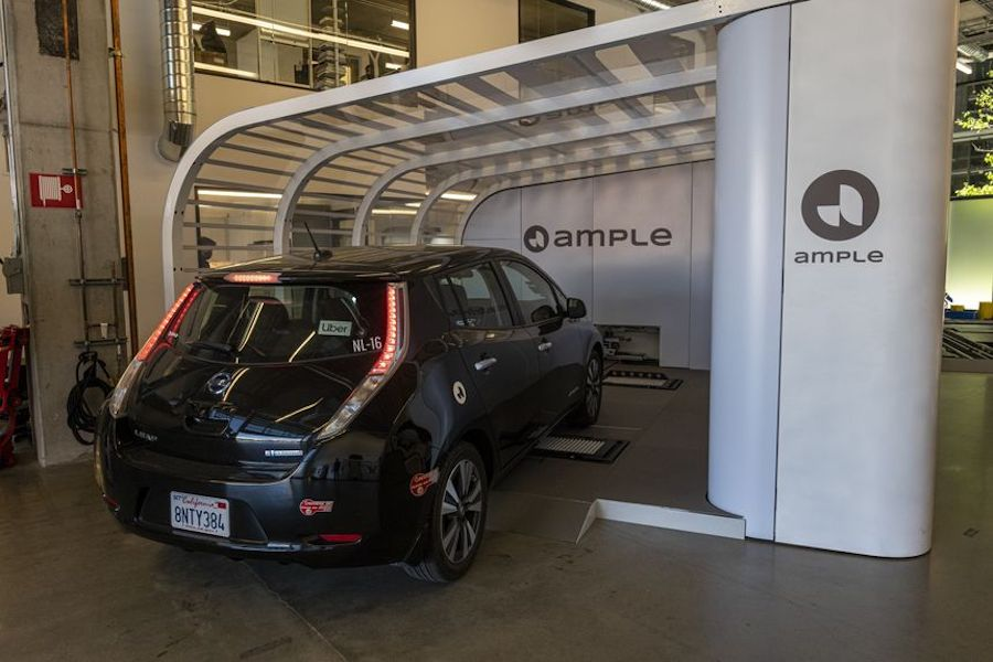 Battery-swapping company Ample received an investment from Shell Ventures in 2018