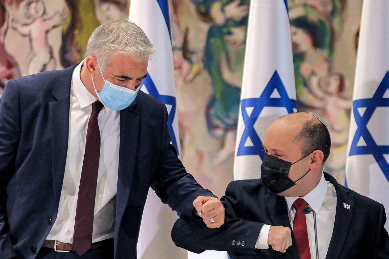 Israeli Prime Minister Naftali Bennett and Foreign Minister Yair Lapid