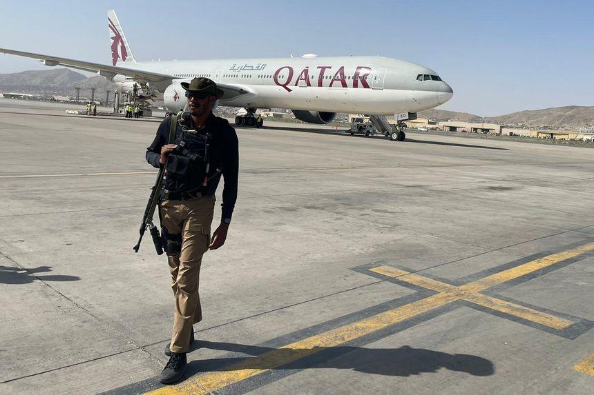 Qatar Airways Boeing 777 landed in Kabul